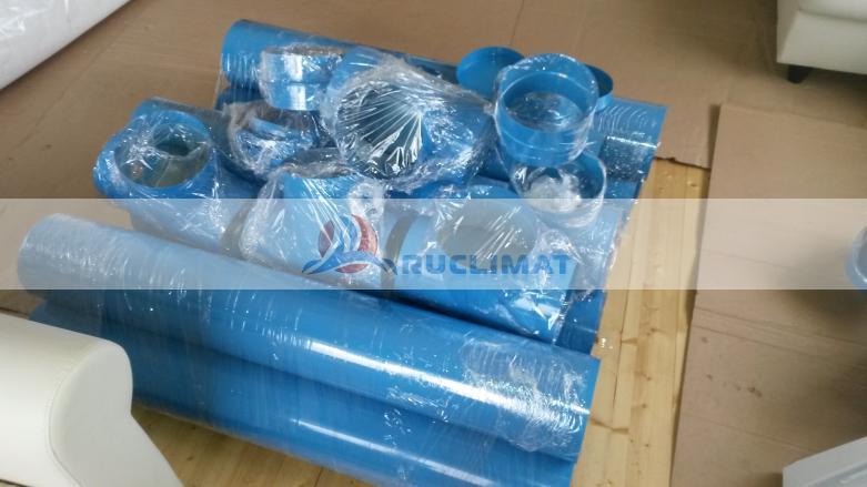 Окрашенные фасонные изделия и воздуховоды для монтажа вентиляции в курительной комнате