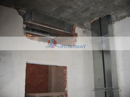 Монтаж прямоугольных воздуховодов в коттедже
