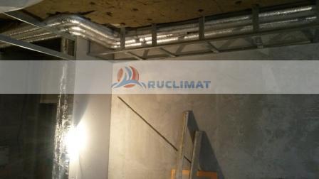 монтаж спиральнонавивных воздуховодов в квартире