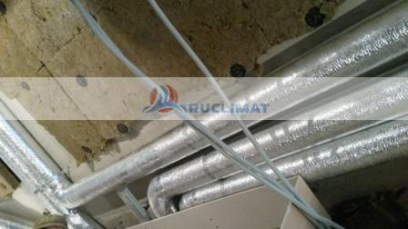 монтаж спиральнонавивных воздуховодов с изоляцией