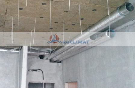 монтаж спиральнонавивных воздуховодов и закладка медных коммуникаций