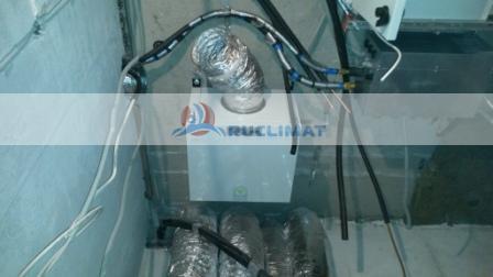 Монтаж вытяжной установки Ventmachine BW-700 и приточной установки Ventmachine ПВУ-350